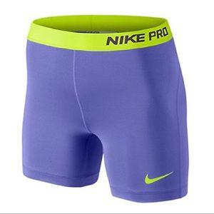 """Nike Pro 5"""" Core Compression Shorts Purple Small"""